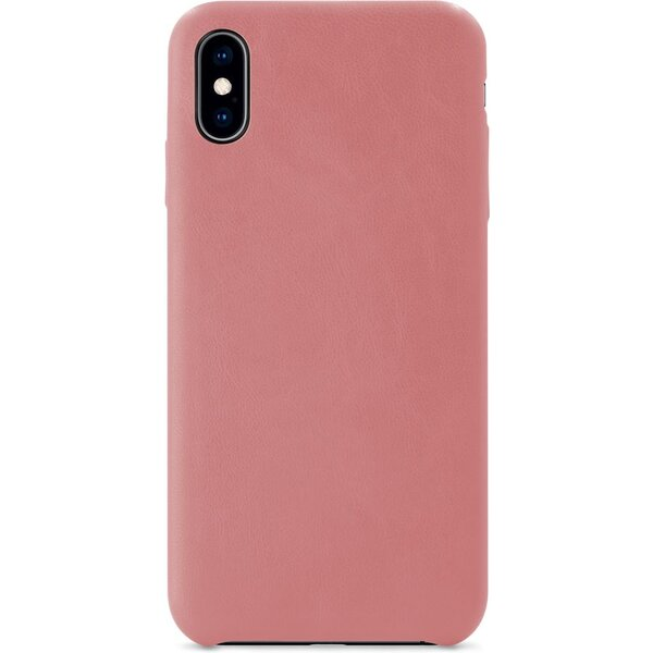 iWant PU kožený kryt Apple iPhone X/XS růžový