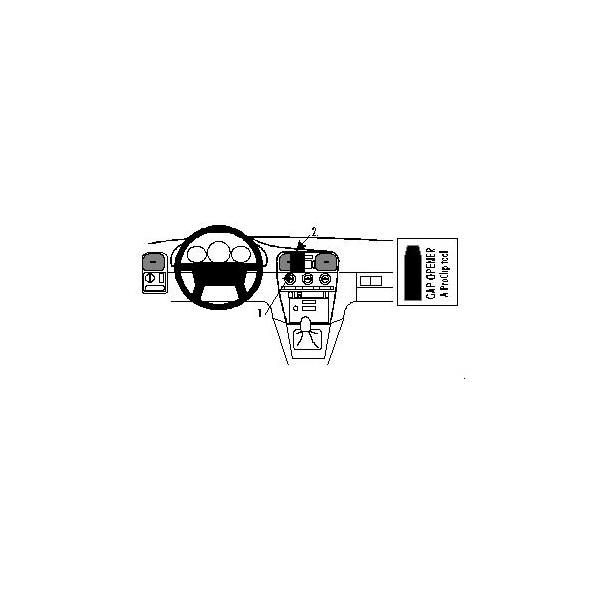 Brodit ProClip montážní konzole pro Volvo S40 96-00, na střed 852283 Černá