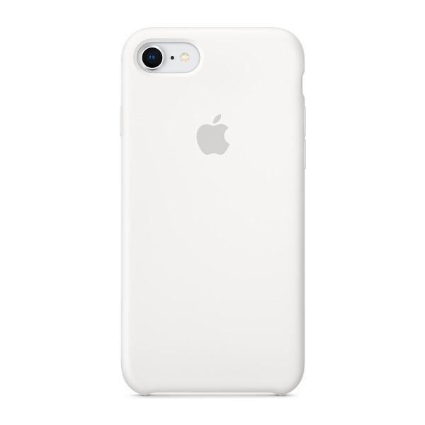 Pouzdro Apple iPhone 8/7 Silicone Case - bílé Bílá