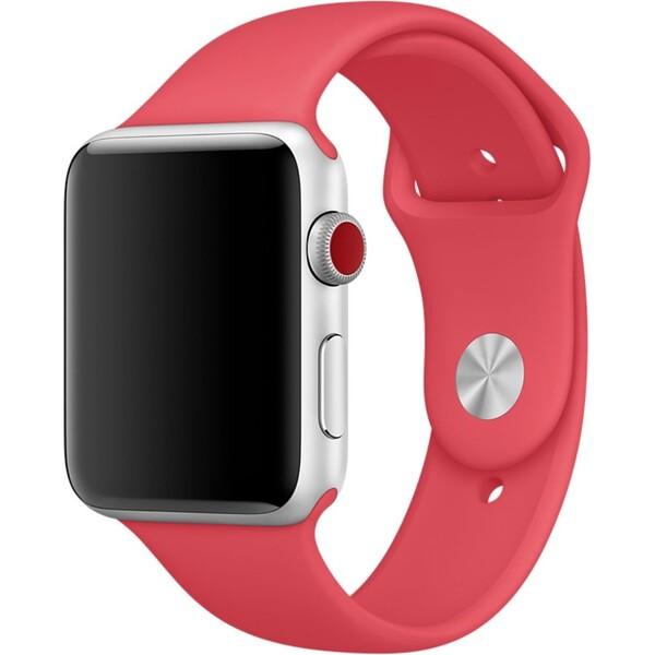 Apple Watch sportovní řemínek 42mm malinově červený