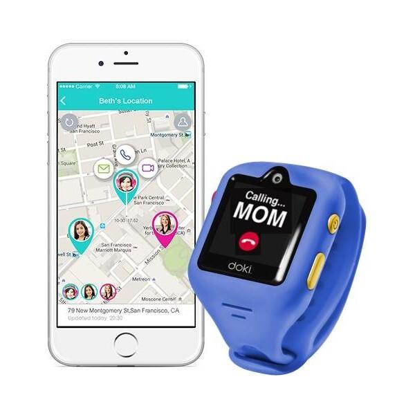 DokiWatch dětské chytré GPS hodinky SIM modré