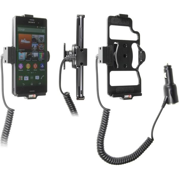Brodit držák do auta na Sony Xperia Z3 bez pouzdra, s nabíjením z cig. zapalovače 512673 Černá