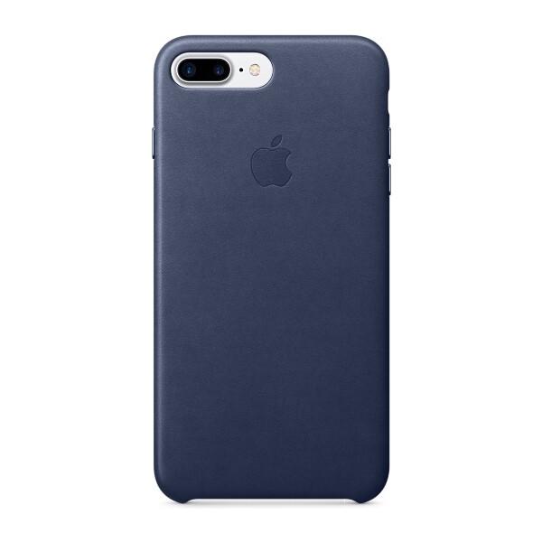 Pouzdro APPLE iPhone 7 Plus Leather Case Půlnočně modrá