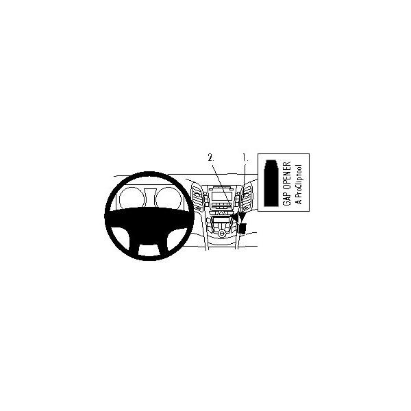 Brodit ProClip montážní konzole pro Hyundai i30 12-16, střed. tunel 854755 Černá
