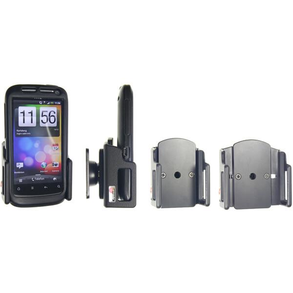 Brodit držák do auta na mobilní telefon nastavitelný, bez nabíjení, š. 49-63 mm, tl. 12-16 mm 511232 Černá