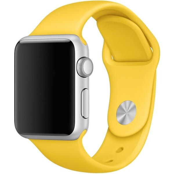 Apple Watch sportovní řemínek 38mm žlutý