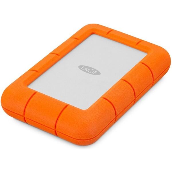 """LaCie Rugged Mini 2TB, 2,5"""", 5400RPM, 9000298 Oranžová"""