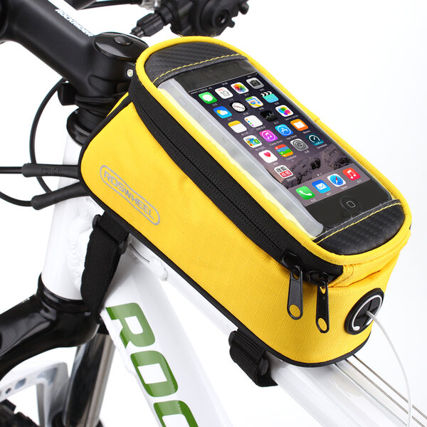 """Roswheel voděodolná brašna na kolo pro telefony do 5,7"""" žlutá"""