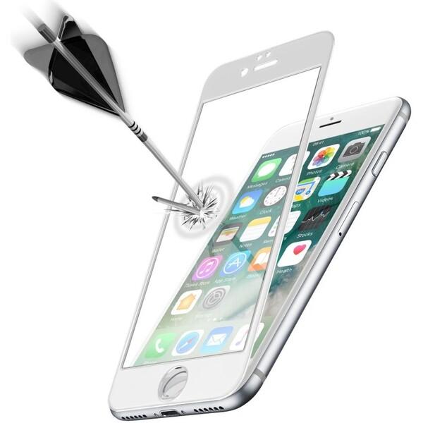 Cellularline CAPSULE Ochranné tvrzené sklo pro celý displej pro Apple iPhone 7, bílé TEMPGCAPIPH747W Bílá