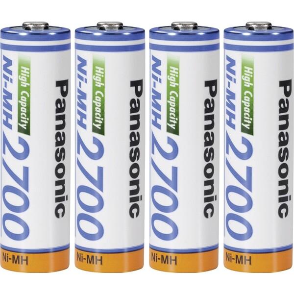 Panasonice AA nabíjecí baterie 2700mAh Ni-MH 4ks