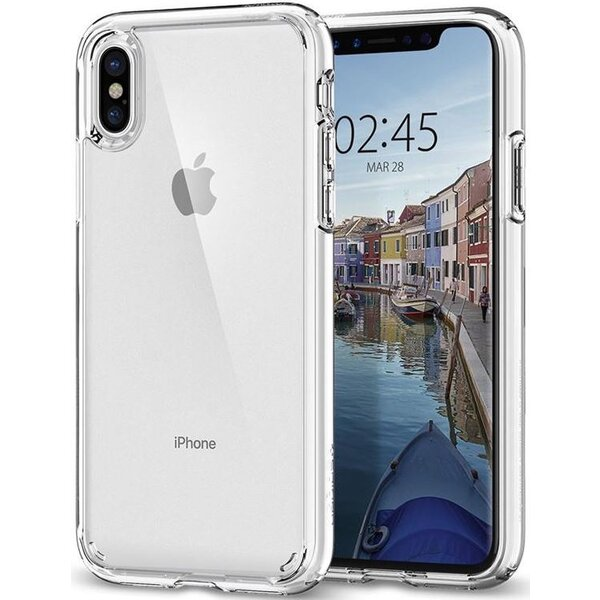 Spigen Ultra Hybrid, crystal clear - iPhone X Čirá