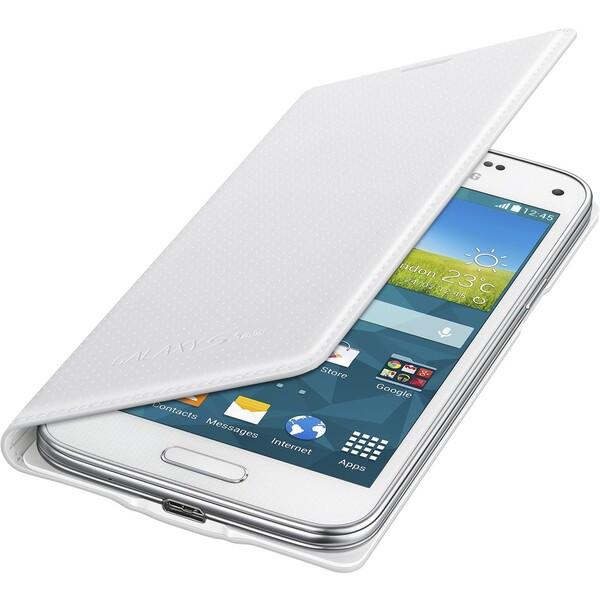 Samsung EF-FG800BH flip pouzdro Galaxy S5 mini bílé