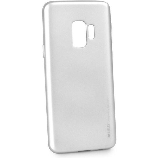 Pouzdro Mercury i-Jelly Samsung Galaxy S9 Stříbrná