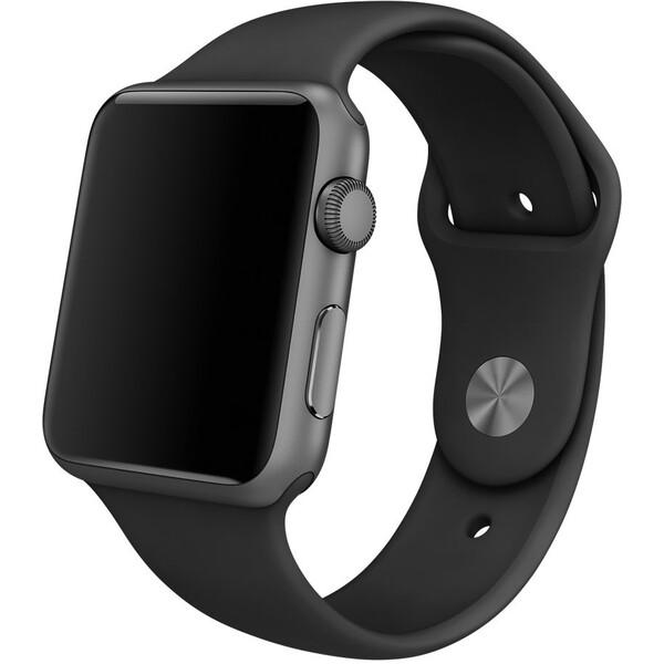 Apple Watch sportovní řemínek 42mm černý s vesmírně černým kolíčkem