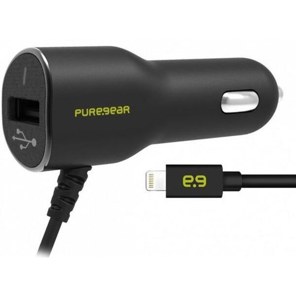 PureGear USB autonabíječka Lightning 3,4A černá