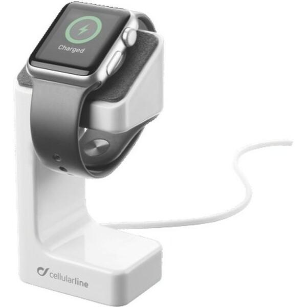 CellularLine Stojánek hodinky Apple Watch se slotem nabíječku Bílá