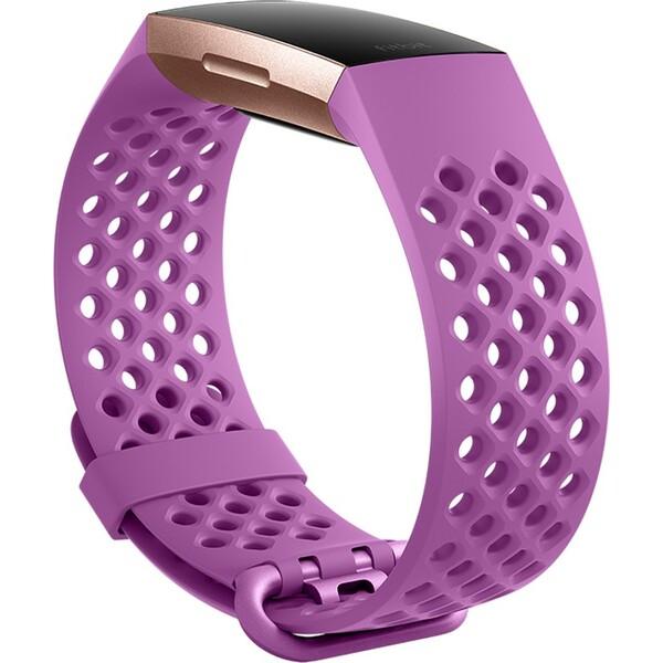 Fitbit Charge 3 silikonový řemínek vel. L Fialový FB168SBLVL Fialová