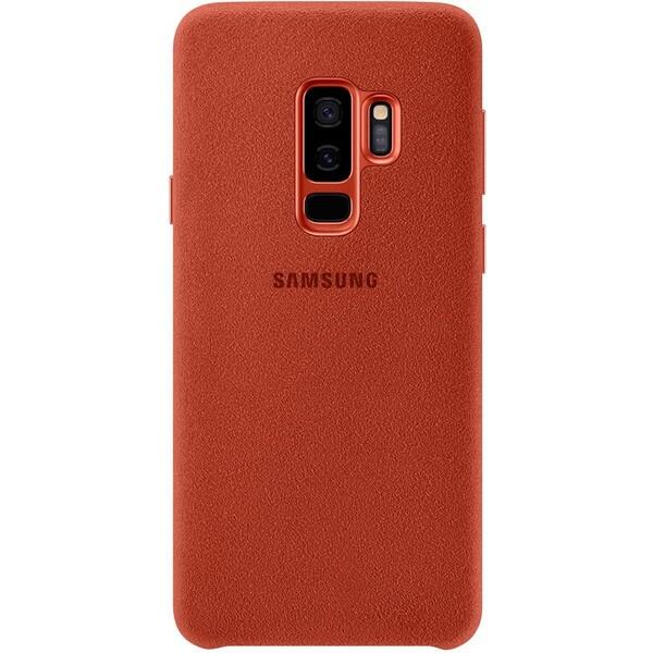 Samsung zadní kryt z kůže Alcantara Samsung Galaxy S9+ červený EF-XG965AREGWW Červená