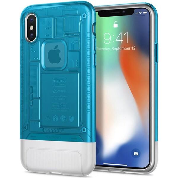 Spigen Classic C1 pouzdro Apple iPhone X modré