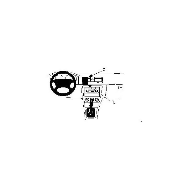 Brodit ProClip montážní konzole pro Škoda Octavia 99-06, na střed 852668 Černá