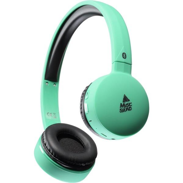 MUSIC SOUND Bluetooth sluchátka s mikrofonem modrá