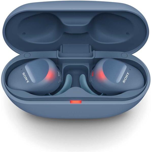 Sony WF-SP800N bezdrátová sportovní sluchátka modrá