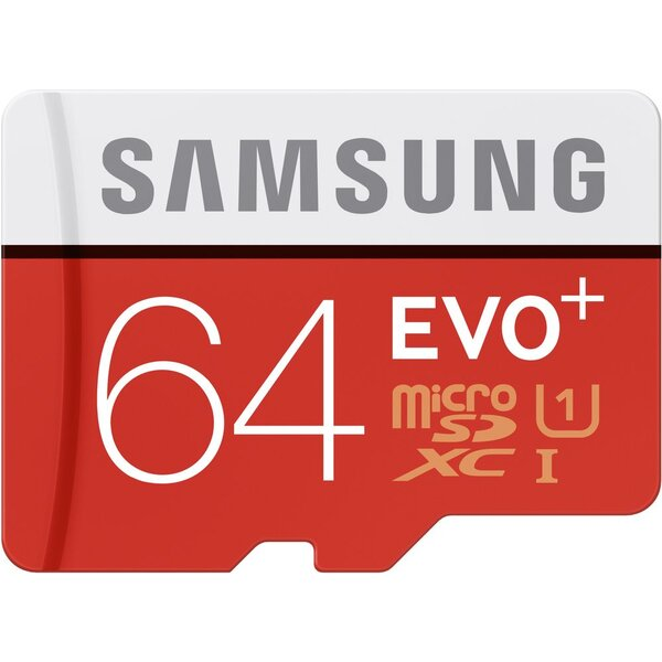 Samsung EVO Plus SDHC 64GB MB-SC64D/EU Červená