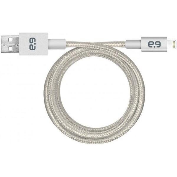 PureGear Metallic Lightning USB kabel stříbrný