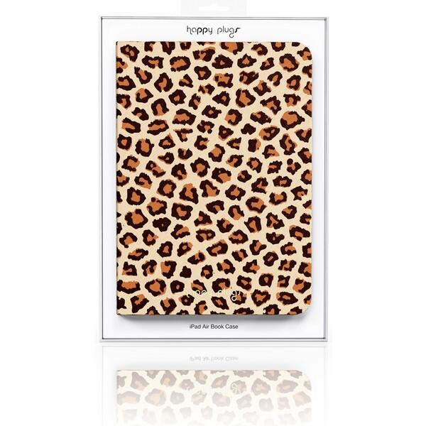 Happy Plugs Book Case obal Apple iPad Air leopard