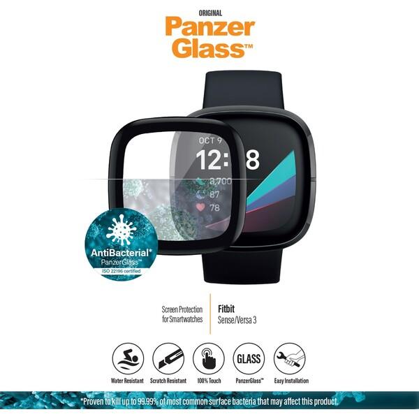 PanzerGlass SmartWatch Antibacterial Fitbit Sense/Versa 3