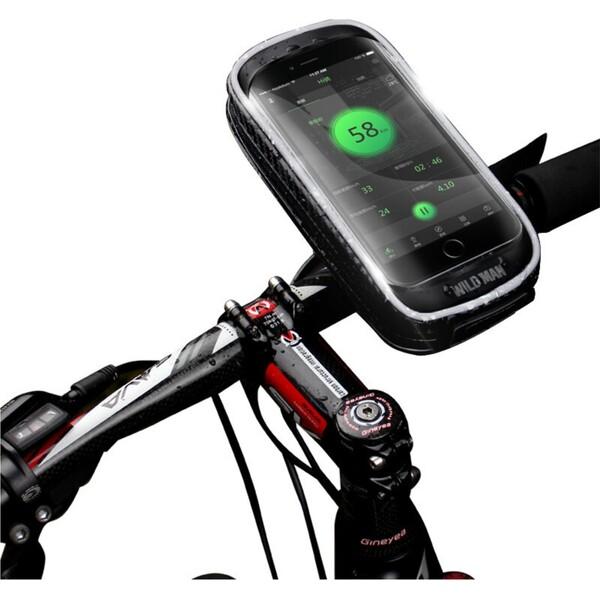 WILD MAN pouzdro pro mobilní telefon na řídítka do 6'' H16 černé
