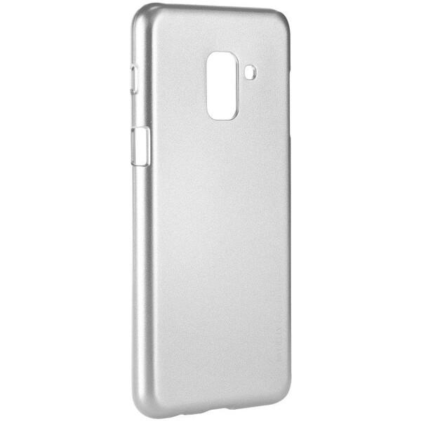 Pouzdro Mercury i-Jelly Samsung Galaxy A8 2018 Stříbrná