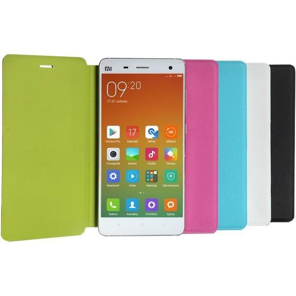 Pouzdro Xiaomi flip case Mi4i zelené Zelená