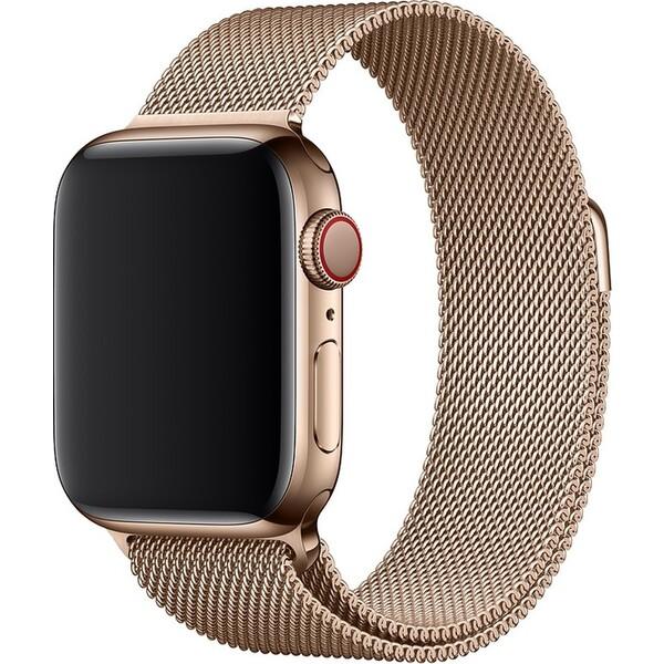 Apple Watch 44mm zlatý milánský tah Zlatá