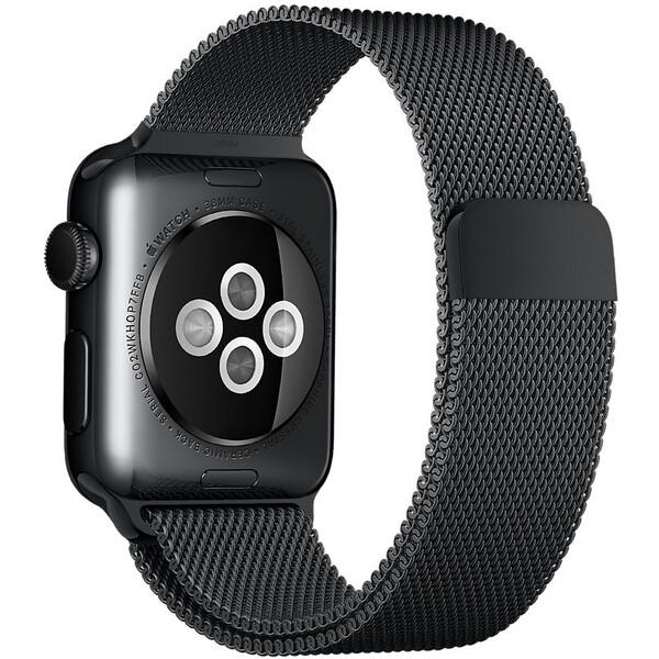 Apple Watch řemínek milánský tah 38mm vesmírně černý
