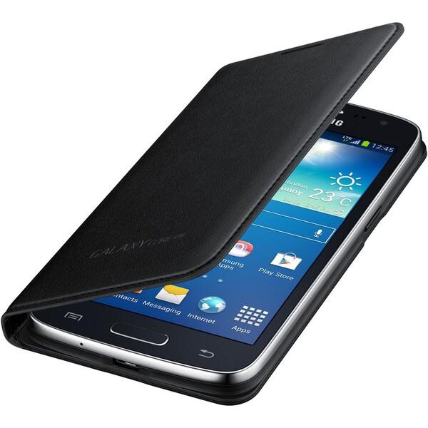 Samsung EF-WG386BB flip pouzdro Galaxy Core LTE černé