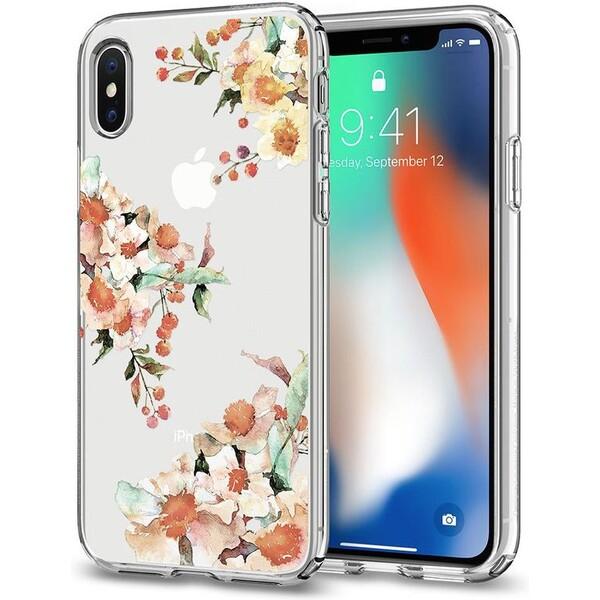 Spigen Liquid Crystal Aquarelle kryt iPhone X čirý 057CS22785 Čirá