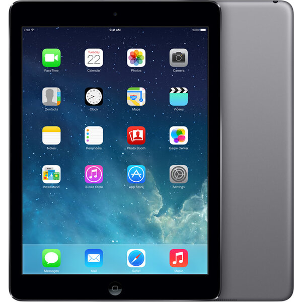 Apple iPad Air 16GB / Wi-Fi + 4G / MD791FD/B / Šedá