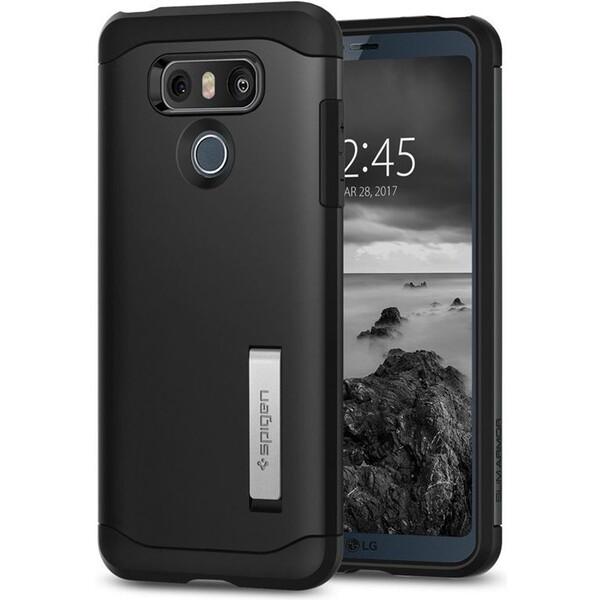 Pouzdro Spigen Slim Armor kryt LG G6 černé Černá