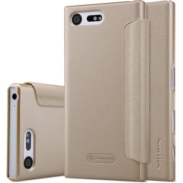 Pouzdro Nillkin Sparkle Folio Sony G8441 Xperia XZ1 Compact Zlatá