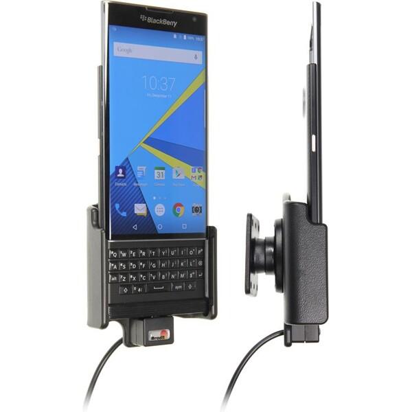 Brodit držák do auta na BlackBerry Priv bez pouzdra, s nabíjením z cig. zapalovače/USB 521762 Černá