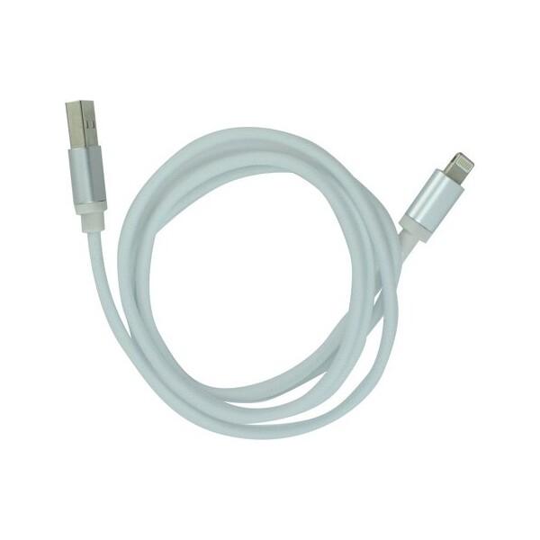 Smarty metalický kabel micro USB bílý