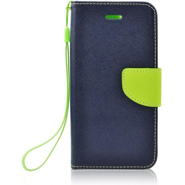Smarty flip pouzdro Sony Z5 Compact modré/limetkové