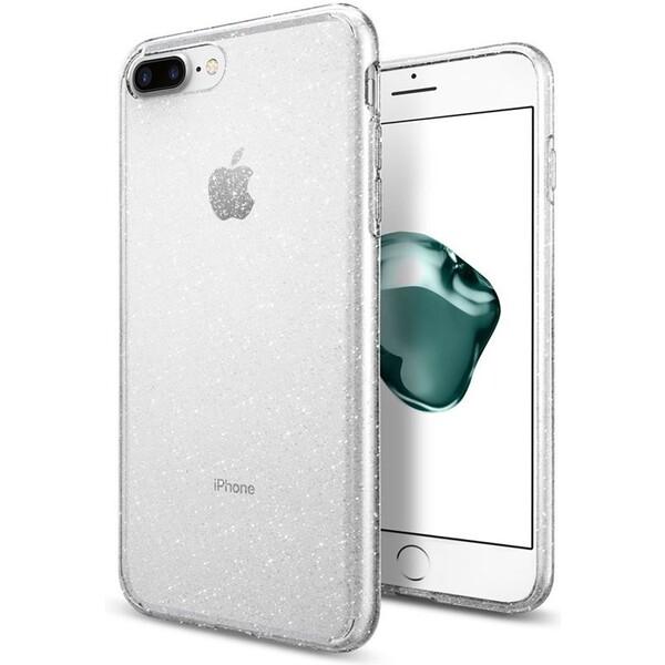 Pouzdro Spigen Liquid Crystal Glitter iPhone 7+ crystal Čirá