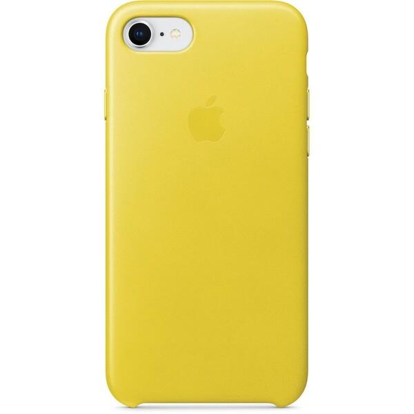Pouzdro Apple iPhone 7/8 Leather Case jasně žluté Jarně žlutá