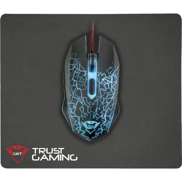 Trust GXT 783 Izza set herní myši a podložky černý