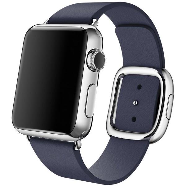 Apple Watch řemínek s moderní přezkou 38mm S půlnočně modrý