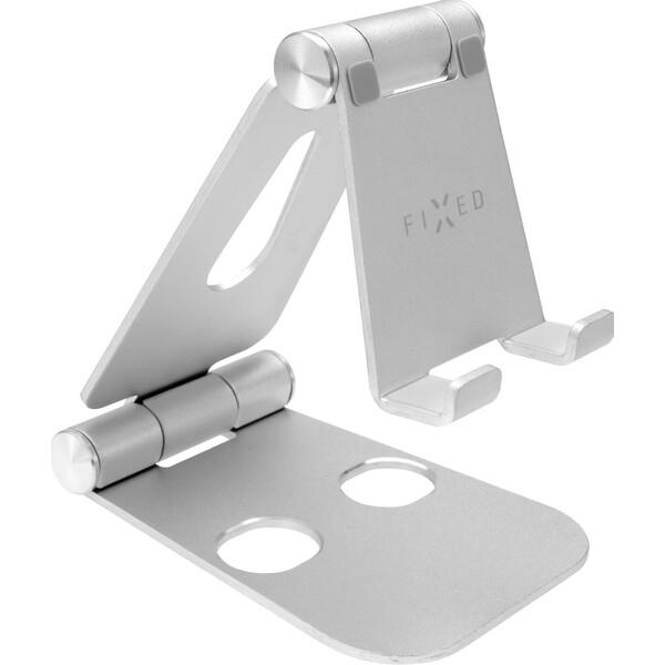 FIXED Frame PHONE hliníkový stojánek pro mobilní telefony, stříbrný