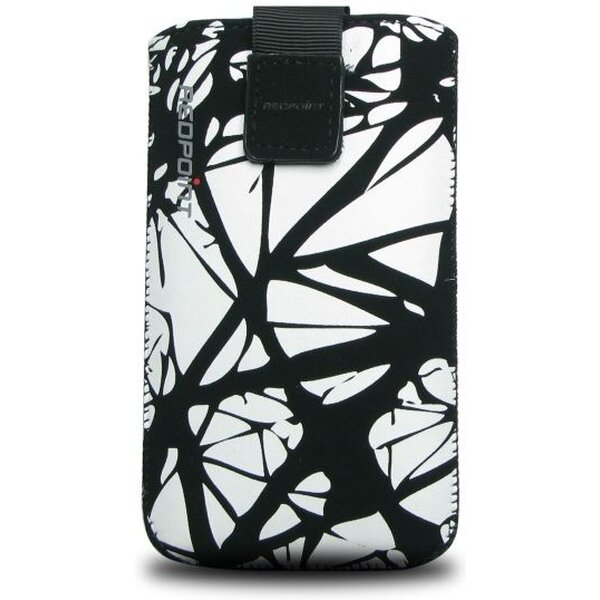 RedPoint Velvet pouzdro S (120x50mm) bílo-černé