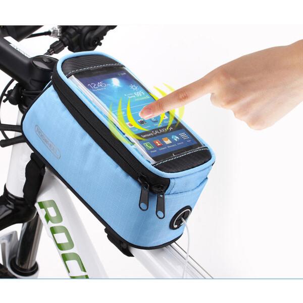 """Roswheel voděodolná brašna na kolo pro telefony do 5,7"""" modrá"""